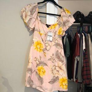 New light pink flowered dress